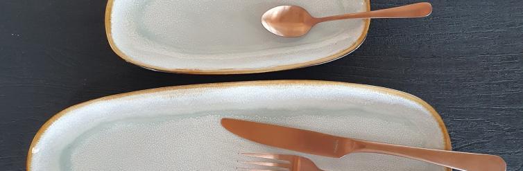 Location assiette aqua ovale 23/11 cm
