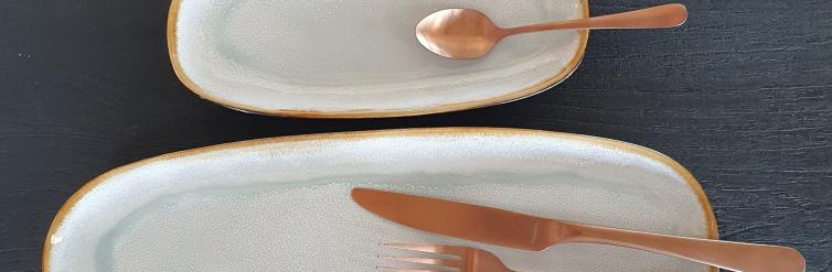 Location assiette  aqua ovale 35,5/14 cm