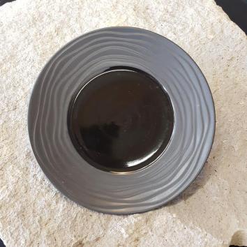 Location assiette noire 21.5 cm