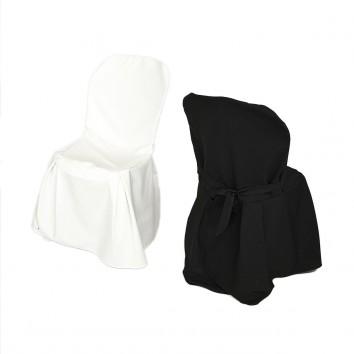 Location chaise avec housse ecrue ou noire
