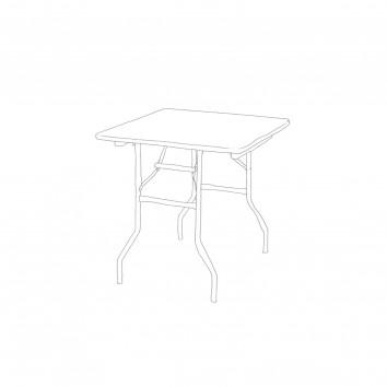 Location table carrée pm  - l.76 - l. 76 - h.76 (à napper)
