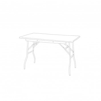 Location table rectangulaire 76/122 cm pliante