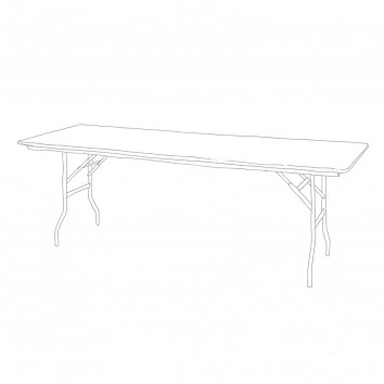 Location table rectangulaire 76/220 cm pliante