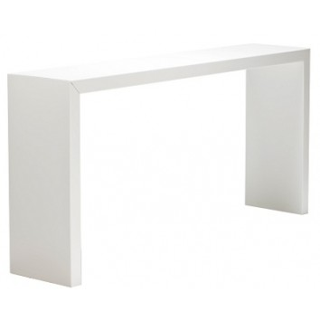 Location table titan mange-debout blanc 230/45/110 cm