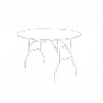 Location table ronde diam 122 cm pieds pliants