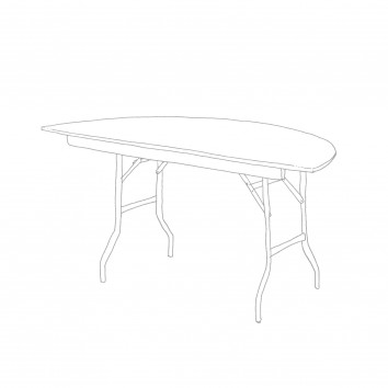 Location table demi rond 152 cm