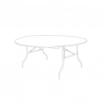 Location table ronde diam 183 cm pieds pliants