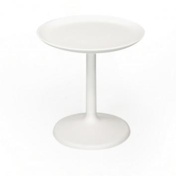 Location table basse ronde ecru-  h 53.5cm diam 50cm