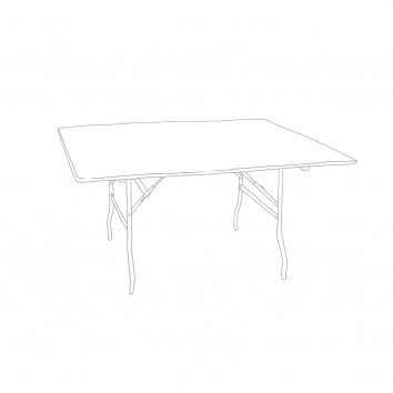 Location table carree 152/152 pieds pliants