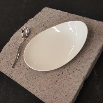 Location assiette galet 18.7 / 13 cm
