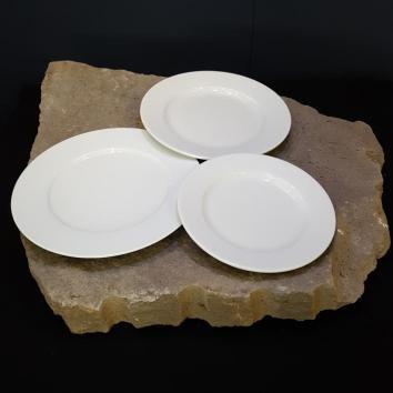Location assiette blanche 21 cm